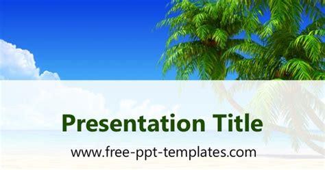 Tropical Beach Ppt Template 4 H Powerpoint Template