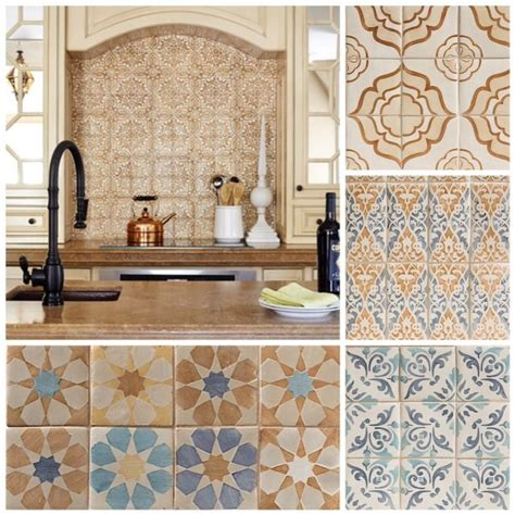 Tile Ideas For Kitchen Backsplash New Collection Hand Painted Terracotta World Mosaic Tile