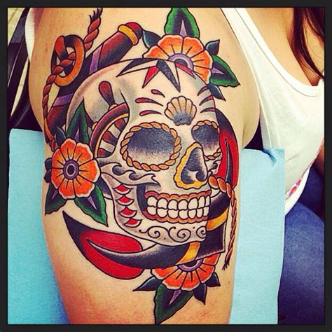 envision tattoo nautical sugar skull jacob doney envision tattoos grand