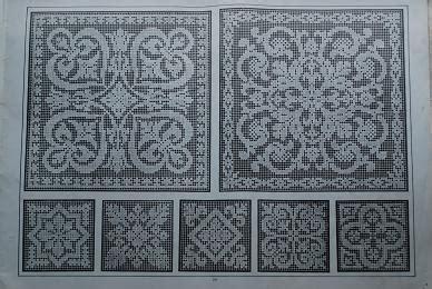 antique pattern library hardanger apl filet ancien i
