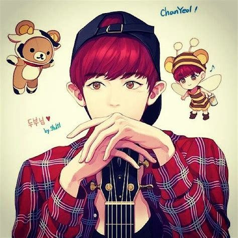 fanart anime chanyeol fanart see logo on pict for credit 서 울