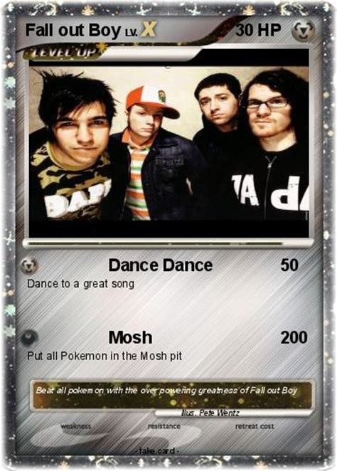 fall out boy cards pok 233 mon fall out boy 4 4 my card