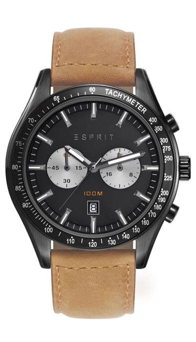 Esprit Es108241004 esprit herrenuhr es brown es108241004 analog chronograph leder hellbraun ebay