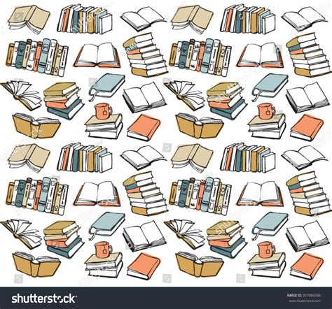 patterns in c book book collection seamless vector pattern stock vector