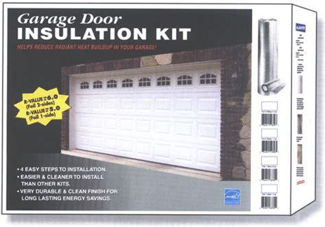 garage door insulation kit garage door radiant barrier