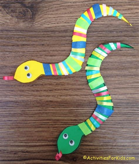 Paper Snake Craft - ribbon snake activity activities websites