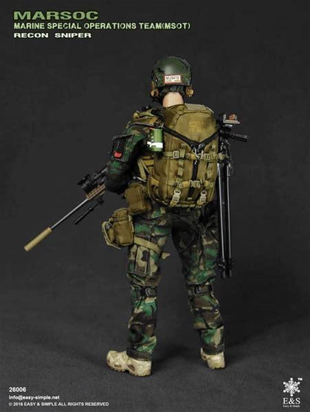 Easy And Simple Marsoc e s marsoc recon sniper easy simple 1 6 scale collectible figure