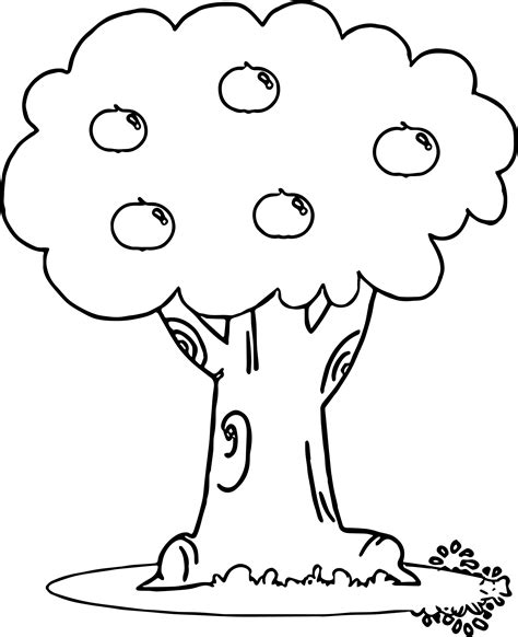 coloring page of a apple tree wonderful apple tree coloring page wecoloringpage