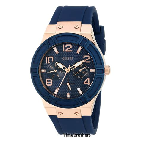 Guess Merica Rosegold Limited new guess gold blue silicone rubber u0571l1