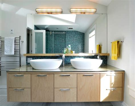 create contemporary look with mid century modern bathroom