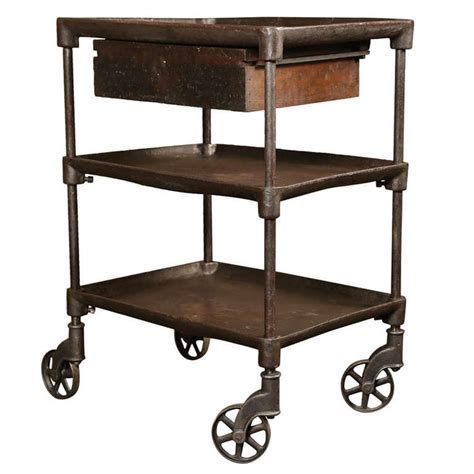 vintage industrial three tier table cart 1stdibs