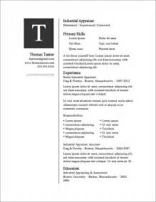 Resume Templates Free by 12 Resume Templates For Microsoft Word Free Primer
