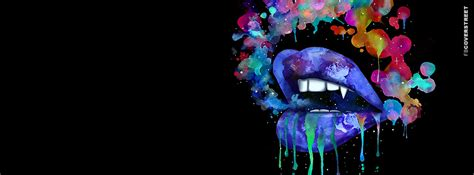 colorful lip smoke facebook cover fbcoverstreet com