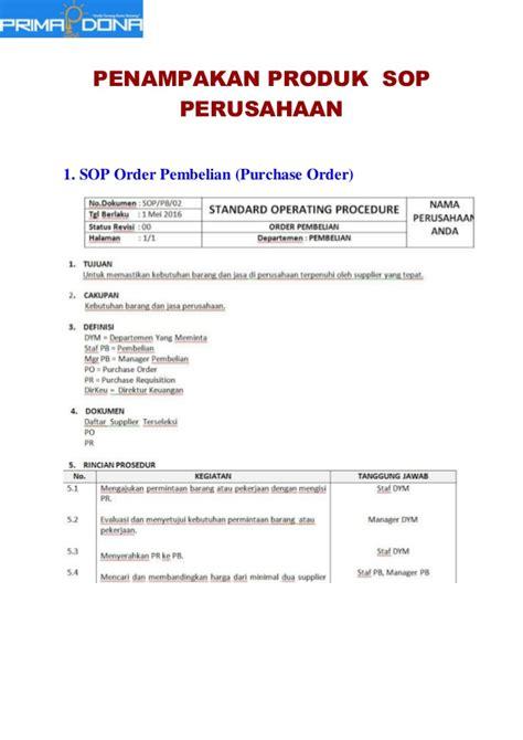 Buku Sop Hrd Perusahaan Flowchart Formulir sop untuk perusahaan