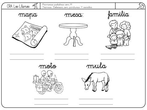 la letra m m 5 170 ficha de lectoescritura de la letra m mapa mesa familia moto y mula didactalia
