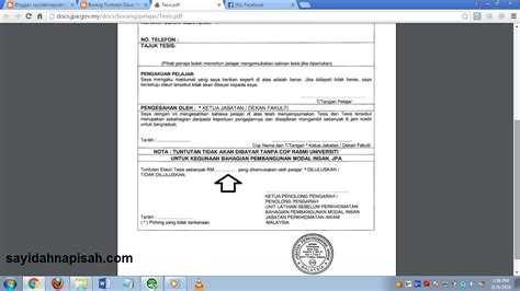 thesis atau tesis maklumat lengkap berkenaan tuntutan elaun tesis jpa