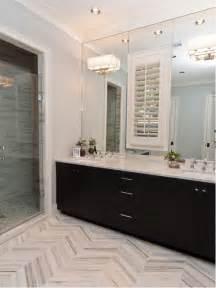 Houzz Bathroom Floor Tile by Gray Herringbone Tile Floor Houzz