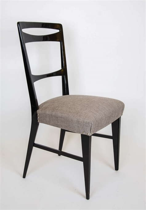 italian black lacquer dining chairs at 1stdibs 1950s set of eight italian black lacquered dining chairs