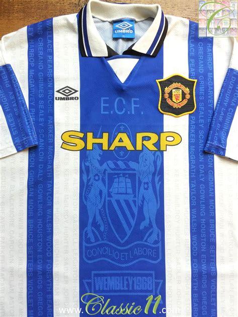 Jersey Retro Mu Away 1996 manchester united troisi 232 me maillot de foot 1994 1996