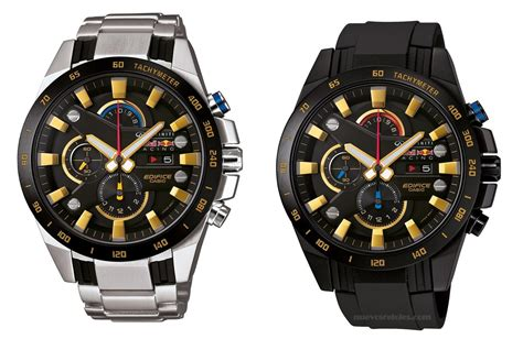 Edifice Infiniti Redbull Racing Black Replika colecci 243 n edifice infiniti bull racing chionship gold de casio nuevos relojes