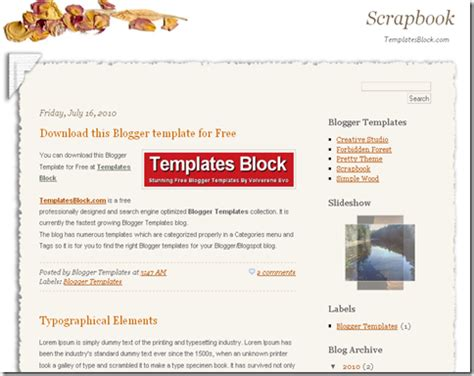 scrapbook templates for blogger scrapbook blogger template blogger templates gallery