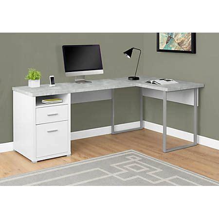 monarch specialties computer desk monarch specialties l shaped computer desk with 2 drawers