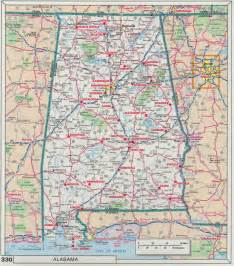 road map of alabama and index of maps