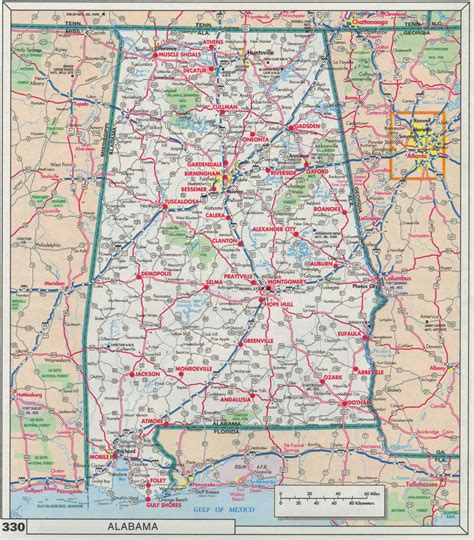printable alabama road map index of maps