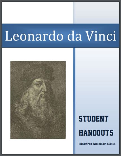 leonardo da vinci biography for students leonardo da vinci biography workbook free to print 18