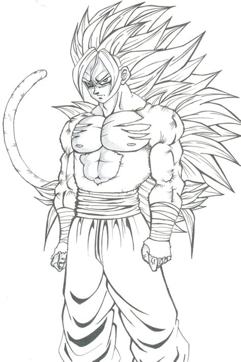 goku ssj5 coloring pages coloring pages