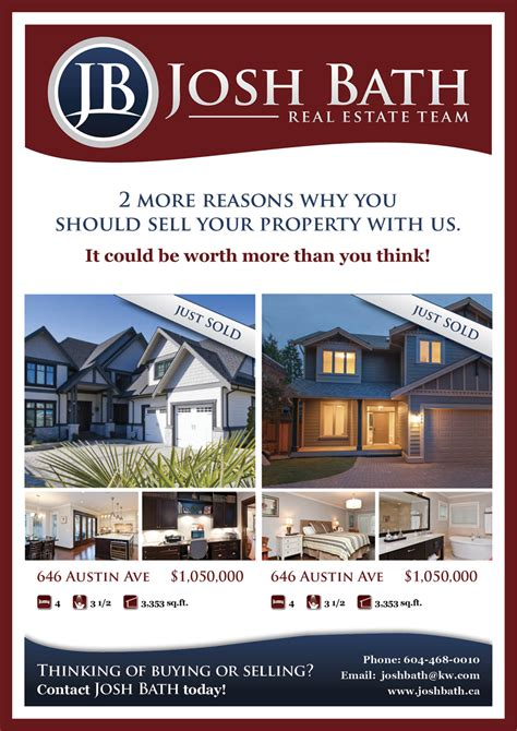 Upmarket Bold Marketing Flyer Designs For A Business And The Best Real Estate Postcards Ideas On Real Estate Just Sold Flyer Templates
