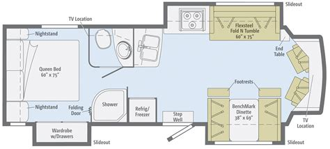 winnebago via floor plans photo winnebago via floor plans images winnebago rv