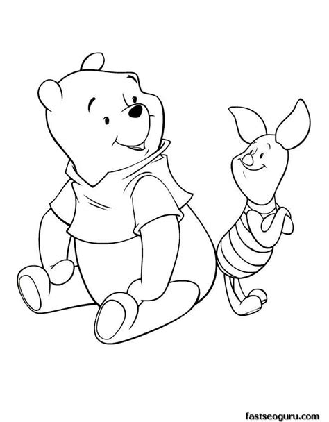 coloring pages disney characters winnie the pooh and