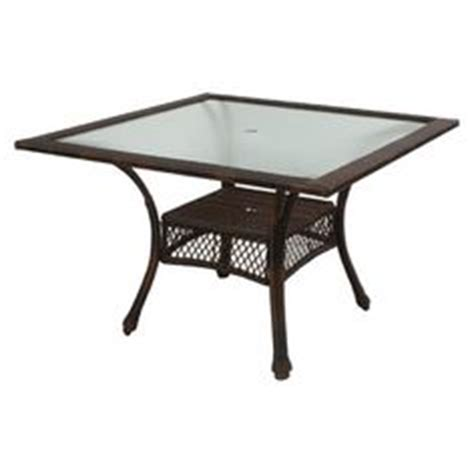 garden treasures hayden island table garden treasures hayden island glass top brown hexagon