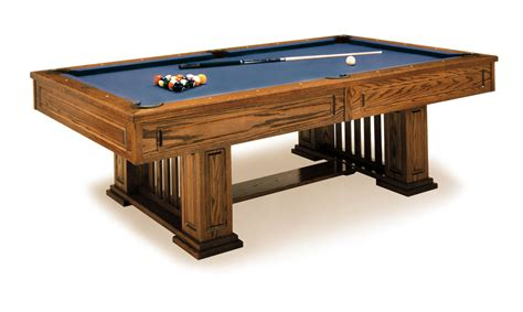 Mission Style Dining Room Table by Monterey Pool Table From Olhausen Billiards