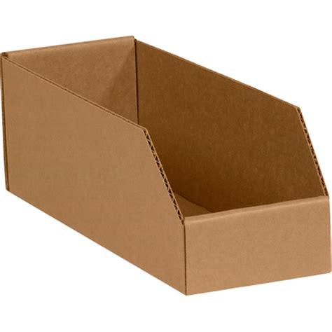 Box 12 5 X 8 5 X 5 8 quot x 12 quot x 4 1 2 quot kraft open top bin boxes