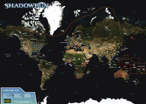 shadowrun anthology shadowrun world of shadows shadowrun shadowrun 4th edition sixth world almanac world map poster