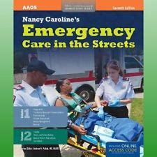 nancy caroline s emergency care in the streets student workbook orange books nancy caroline emergency care in the streets ebay