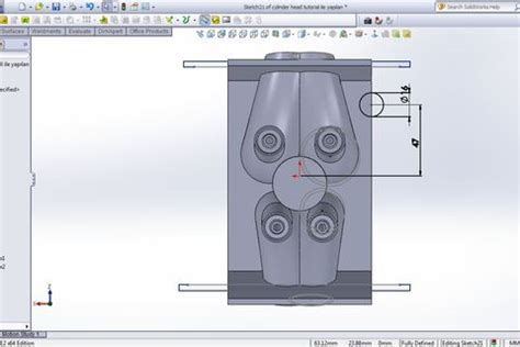 geometric pattern results in disjoint bodies tutorial how to make engine part 31 grabcad