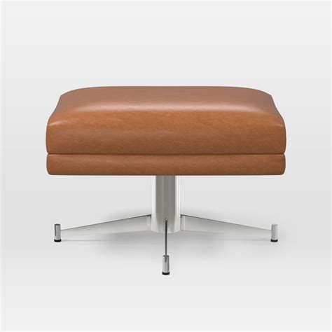 saddle leather ottoman hemming leather ottoman saddle west elm au