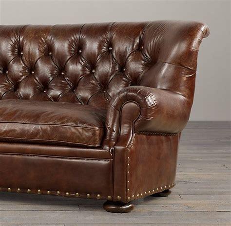 Churchill Sofa Restoration Hardware by Churchill Leather Sofas With Nailheads Restoration