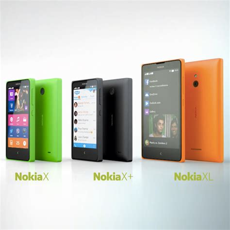 Hp Nokia X Family nokia enters in the world of android with nokia x family smartphone