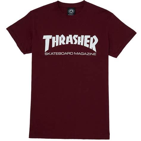 Trasher Logo Tees 1 thrasher skate mag t shirt maroon