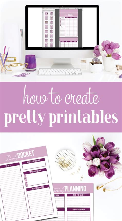 create your own printable planner free how to create your own printables i heart planners