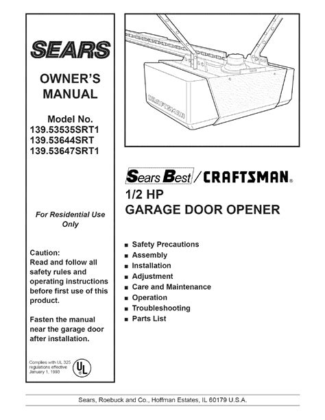 Wiring Craftsman Garage Door Opener Craftsman Garage Door Opener Wiring Schematic Efcaviation
