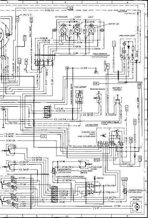 Wiring Diagram Type 924 S Model 86 Sheet - Porsche 944