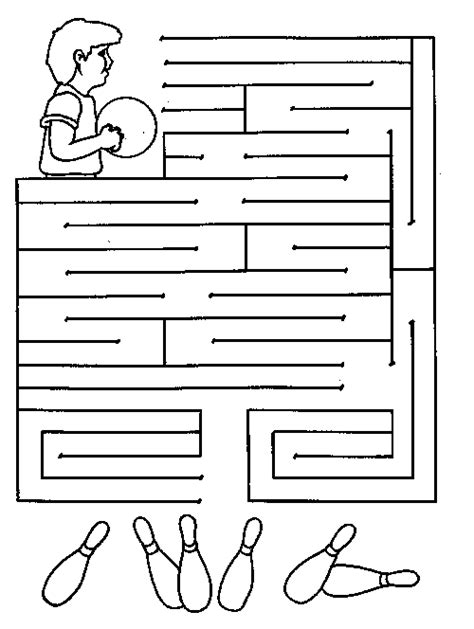 Printable Bowling Maze | free coloring pages of parable the sower puzzles