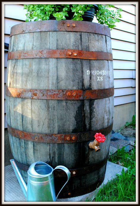 whiskey into water rain barrel diy tixeretne