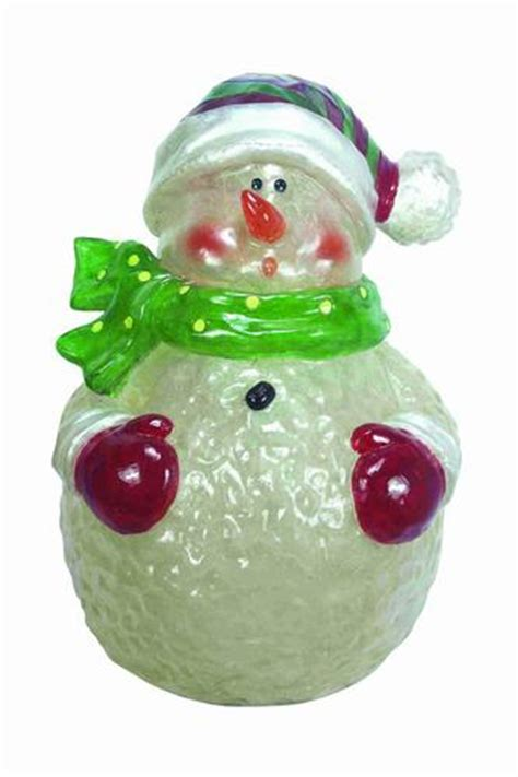 22 quot lighted polyresin snowman at menards 174