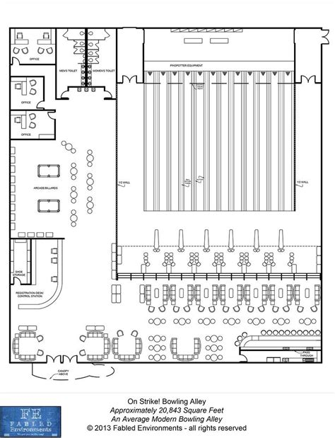 modern floorplans an average modern bowling alley fabled environments modern floorplans